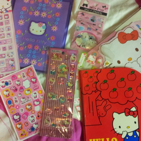 Some of my Hello Kitty collection.
