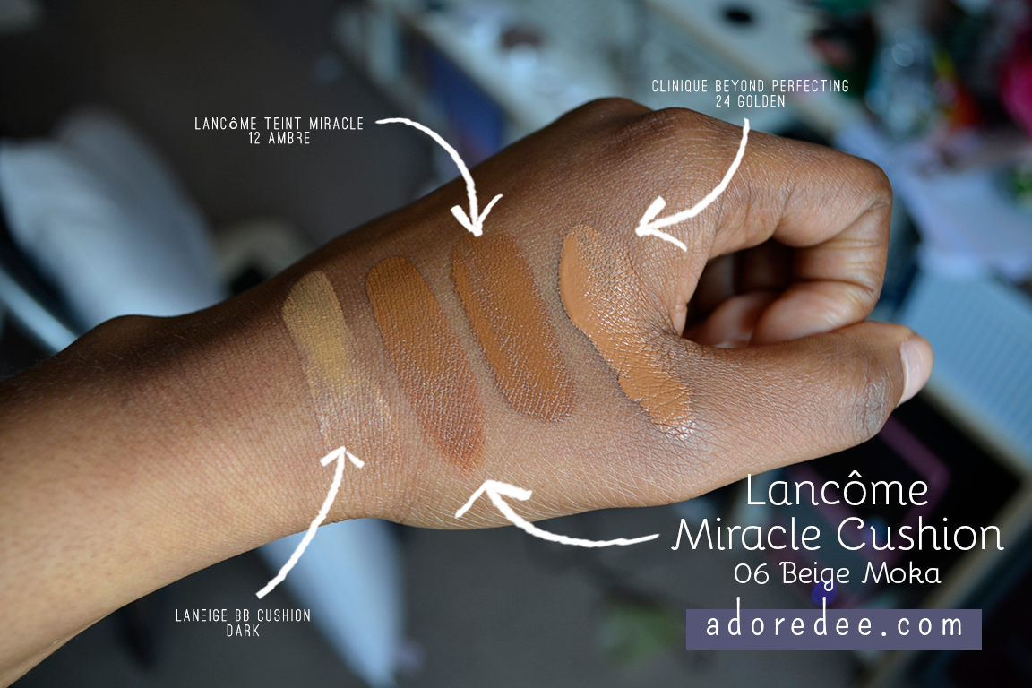 Review Lanc 244 Me Miracle Cushion 06 Beige Moka Adoredee