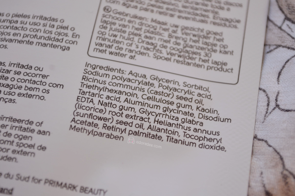 Primark-Eye-Patch-Ingredients