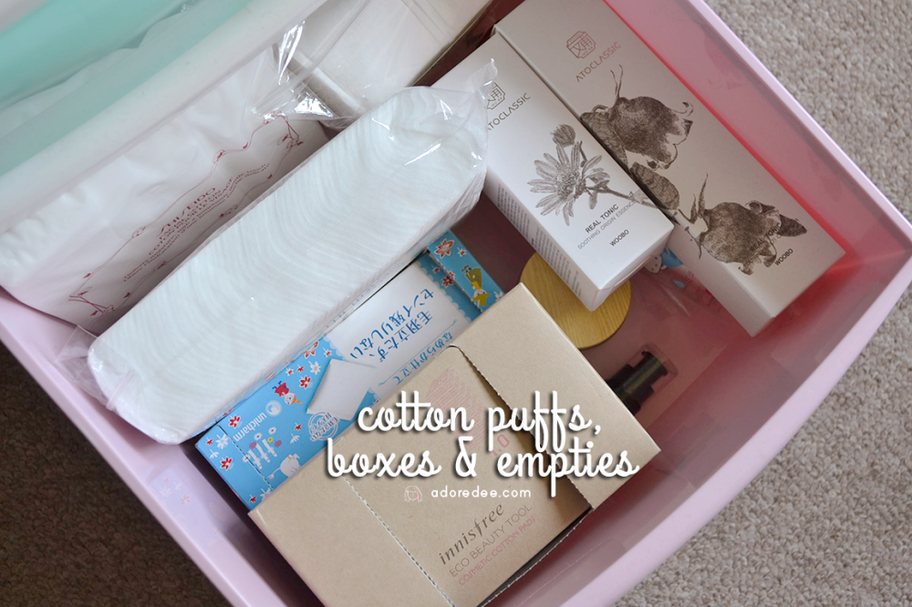 cottonpuffsboxesandempties